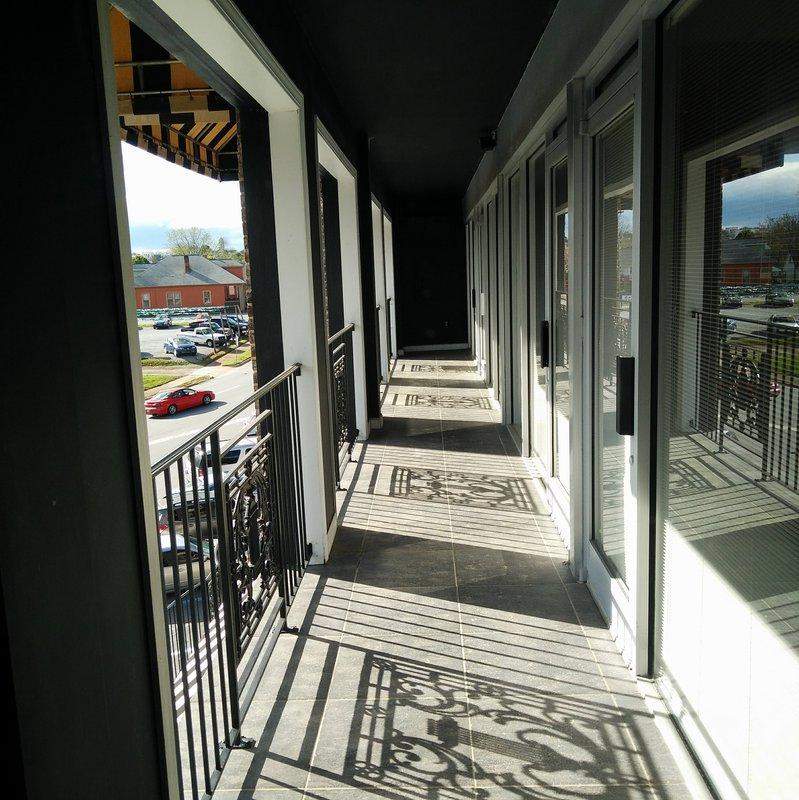 Morganton Station balcony