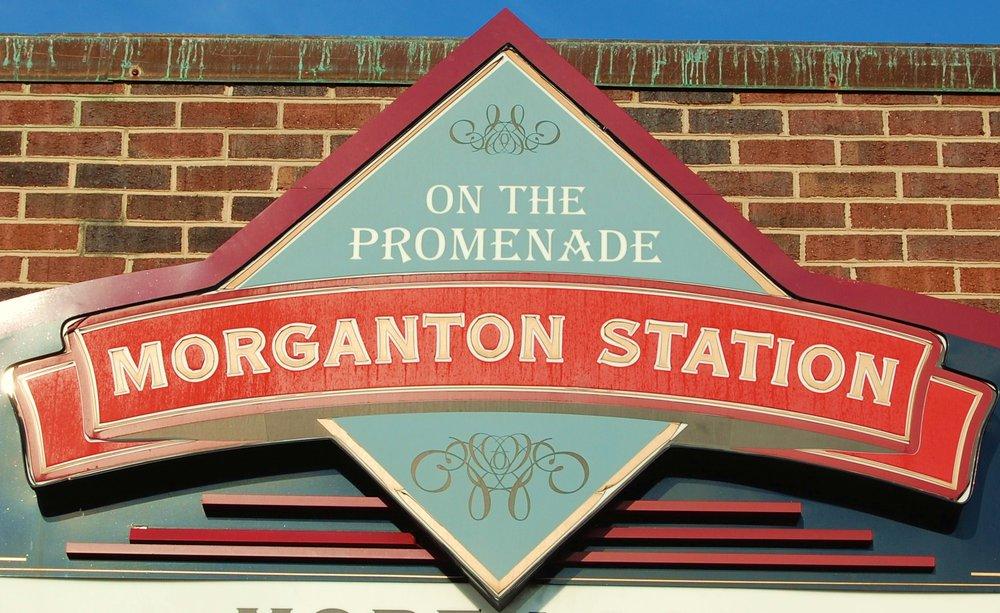 Morganton Station sign